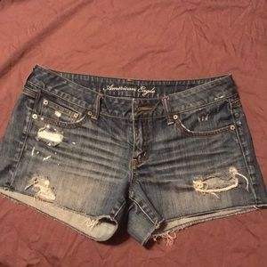 AE distressed denim shorts